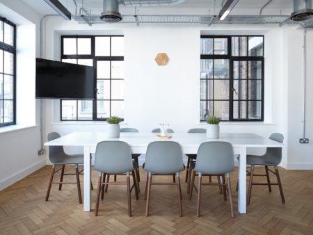 modern family dining room